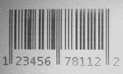 Radiopaque Bar code x-ray visible