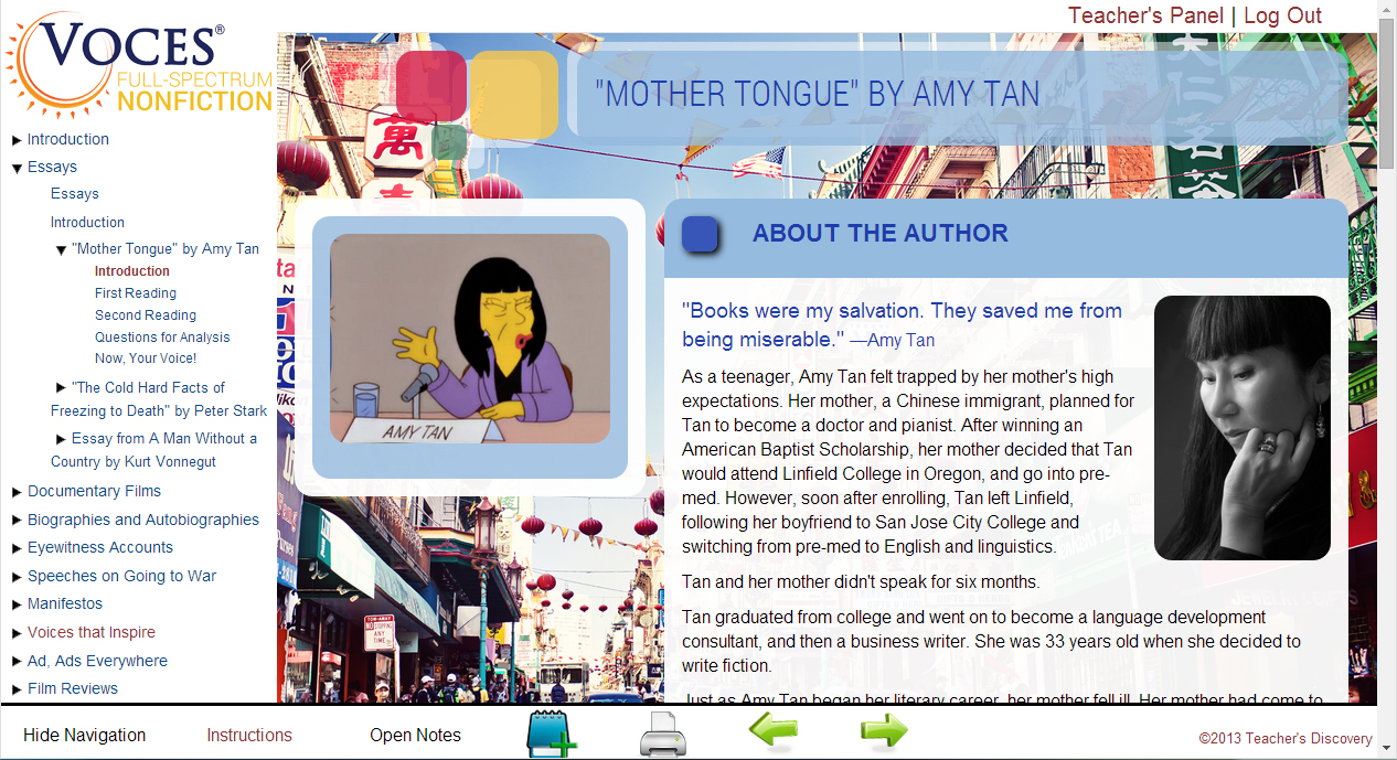 mother tongue amy tan essays