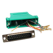 DB25 to RJ45 Modular Adapter available in many colors
