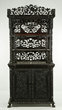 Elaborately carved Chinese zitan wood etagere