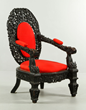Important 19th Century Chinese carved zitan armchair