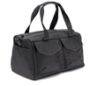 The Outback Duffel—black ballistic nylon with black leather details