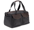 The Outback Duffel—black ballistic nylon with chocolate leather details