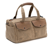 The Outback Duffel—waxed canvas nylon with grizzly leather details