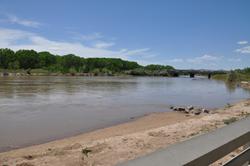 Rio Grande at Central Bridge in Albuquerque, May 5, 2014