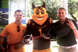 ASU Startup Accelerator company Bosse Tools with Sparky at ASU Day at the Capitol