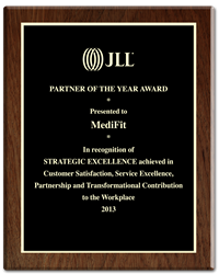 MediFit wins JLL Partner of the Year Award