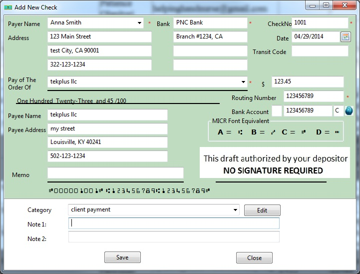 New Easy To Use Draft Check Software Prints Pre Approved Check Drafts In House