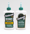 A side-by-side comparison of the new Titebond label (left) to the existing label.