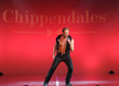 Ian Ziering on stage in Chippendales at the Rio All-Suite Hotel & Casino in Las Vegas. (Photo by Denise Truscello)