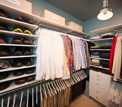 Organized Living freedomRail custom closet