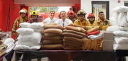 Sunset World Presents Donation to Cancun Area Fire Stations