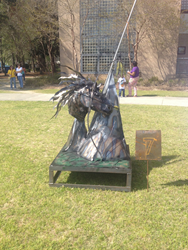 Scrap metal was transformed into artwork at Florence-Darlington Technical College's fifth annual Welding Sculpture Competition.