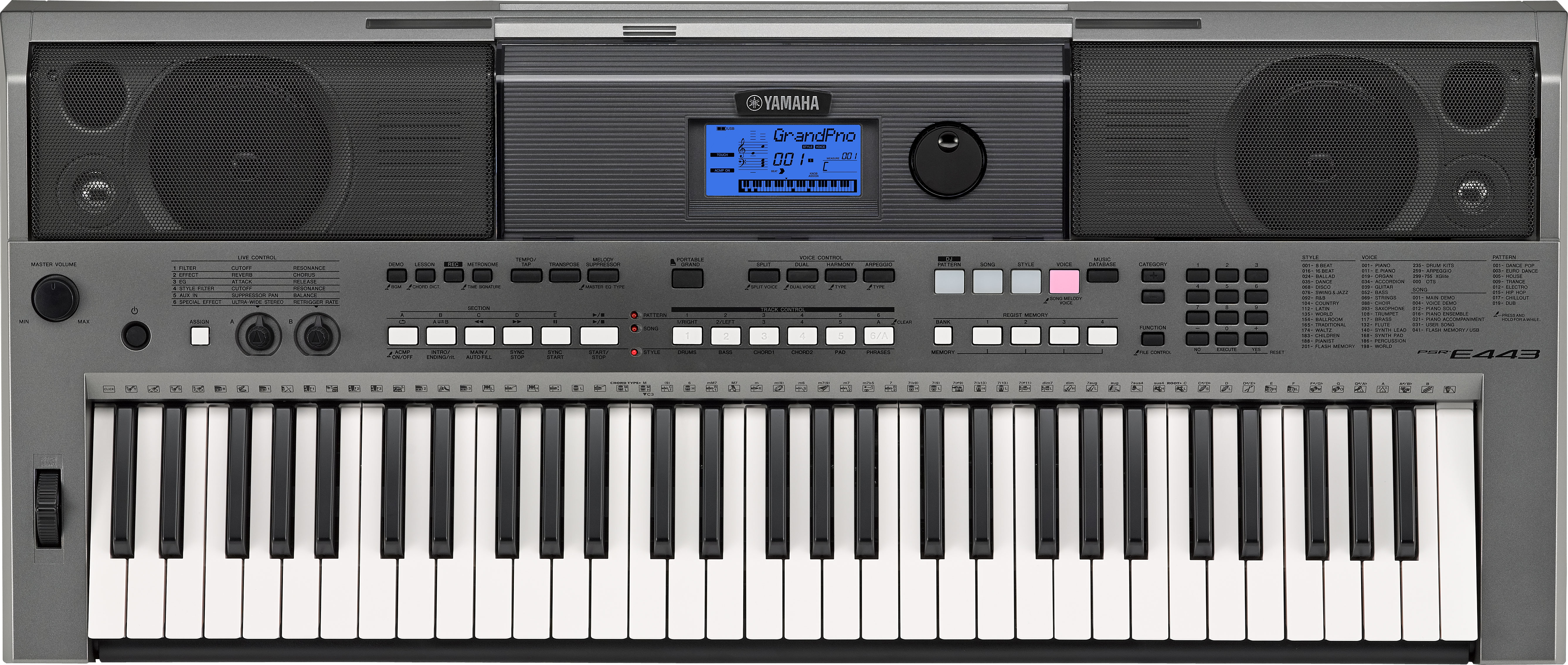 Yamaha psr e443 portable keyboard now shipping offers fun for Yamaha learning keyboard