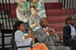 Syreeta Martin, journalist and consultant (seated, left), recently hosted Chester Community Charter School's (CCCS) First Annual Teen Summit for Students event, where more than 300 seventh- and eighth