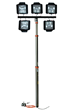 Telescoping Pneumatic Mini Light Tower to allow operators to quickly and safely deploy 52,500 lumens of light