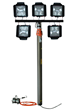 3,750 Watt Pneumatic Light Mast that is Extendable to 13.5 Feet