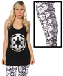 You'll be flaunting fashion from the dark side when you pair this striking new Imperial tank top along with these new Imperial leggings featuring recognizable images of Darth Vader & Stormtroopers.