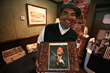 George Lopez Poses with a Special Brownie Creation from Barry's Gourmet Brownies
