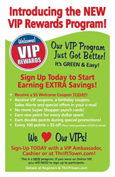 Thrift Town's New VIP Rewards Program