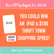 Register to be a VIP by August 31st for a chance to win!