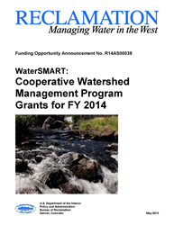FY 2014 Cooperative Watershed Management Funding Opportunity Report Cover