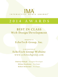EchoTech Group Wins Best in Class for Web Design/Development from Interactive Media Awards
