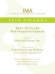 EchoTech Group Wins Best in Class for Web Design/Development from Interactive Media Awards