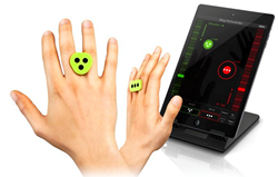 Revolutionary gesture control iRings deliver touch-less technology for mobile devices and more
