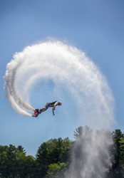 FlyBoard flips over Lake Delton