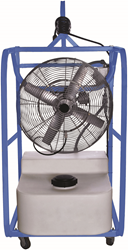 Hazardous location portable air cooler with a 24 inch spark proof aluminum blade