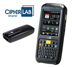 CipherLab CP60 mobile computer and 1600 barcode scanner