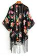 oasap kimono, fashion kimono, chiffon kimono, floral kimono, semi-sheer kimono