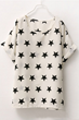 oasap t-shirt, fashion t-shirt, chiffon t-shirt, star print t-shirt