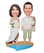 Beach Wedding cake toppers BW61