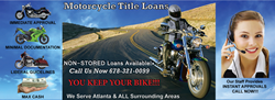 NON stored Atlanta motorcycle title loans