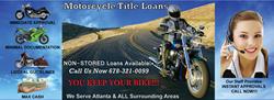 NON stored Atlanta motorcycle title loans