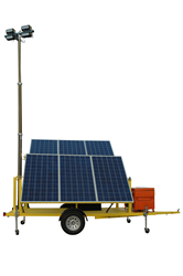 1.8KW Solar Powered Security Light Tower with Four 160 Watt LED Light Heads