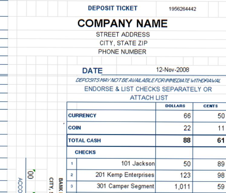 New Deposit Ticket Template Added to Expanded Collection at