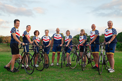 Team of 7 cyclists and 3 crew to ride across the USA
