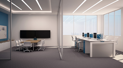 open plan, benching, workstation, conference, video conferencing, office