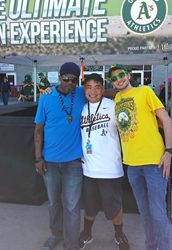CIP students volunteered for the Oakland A's baseball team