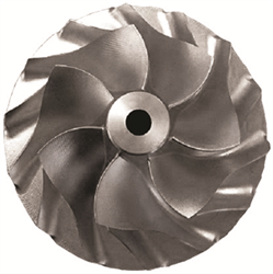 Fully three-dimensional compressor impeller for heavy duty turbochargers. Novel compressor design methods can improve compressor performance by up to 3 points over state-of-the-art designs