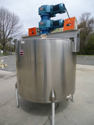 500 Gallon Perma-San Stainless Steel Kettle