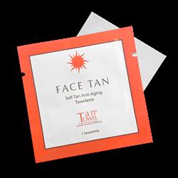 New TanTowel® Face Tan, Self-Tan Anti-Aging Towelette