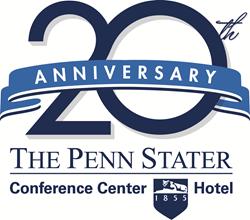 Penn Stater 20th anniversary logo