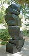 "Tom Joyce's ""Stack,"" made of forged iron. 72""h x 34""w x 32""d (5507 lbs.) © Courtesy of the Artist."