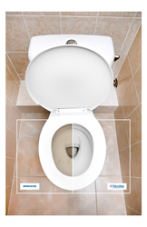 Microban antimicrobial technology helps keep toilets cleaner.