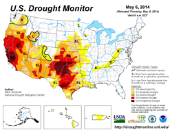 U.S. Drought Monitor - May 6, 2014