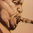 "Blue Notes Collection by Artist Thomas Cale; ""Dexter"""